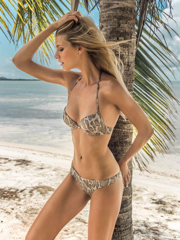 Eniqua Push Up Bikini Shiny Snake Attack