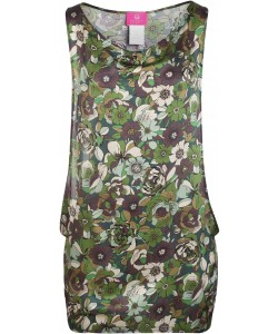 Camo Flowers Beach Dress
