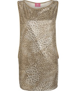 20170077 GLITTER LEO TANK DRESS