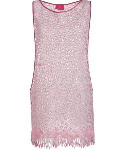 Pink Leo Dress Beach Dress