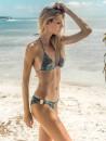 eniqua DEEP SEA REPTILE TRIANGLE   exclusive bikini on beach