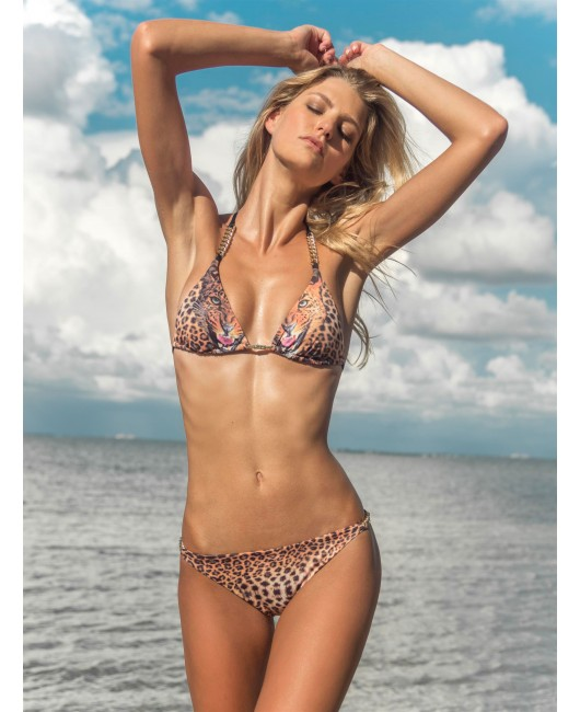 eniqua ROAR LEO CLASSIC TRIANGLE   luxurious bikini on beach
