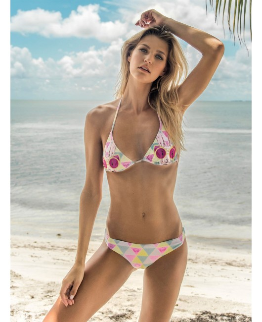 eniqua FUNKY BUNNY COL TRIANGLE   unique bikini on beach