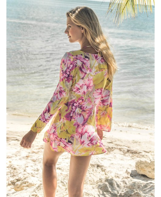 20170024 SUMMER BLOOM LONG ARM TUNIC