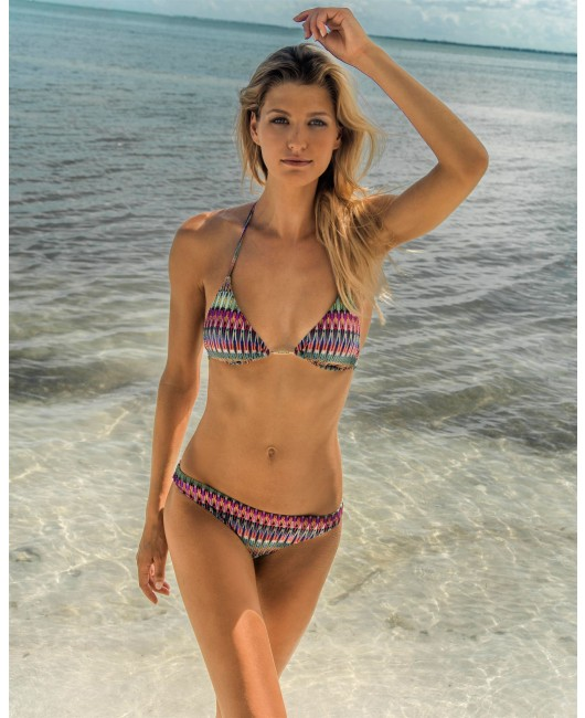 eniqua GREEN VULCANO TRIANGLE   luxurious bikini on beach