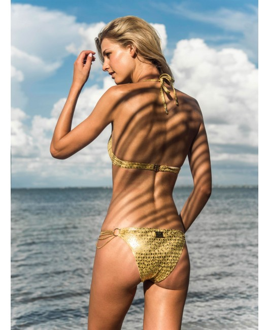 eniqua GOLDEN SNAKE  PUSH UP   glamorous bikini on beach