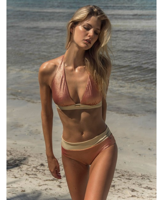 eniqua COPPER TAN NECKHOLDER   exclusive bikini on beach