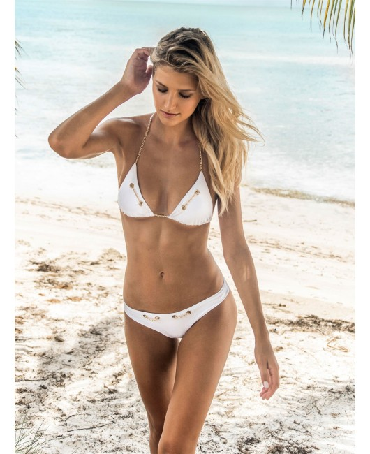 eniqua TROPEZ BOUND TRIANGLE   designer bikini on beach