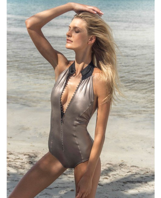 eniqua GLAM SANDS ZIPSUIT   exclusive swimsuit on beach