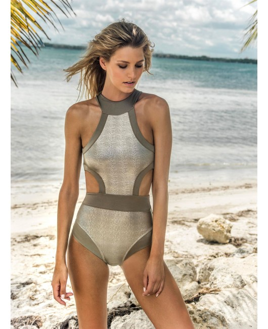 eniqua SAND SNAKE BAND SUIT   luxurious swimsuit on beach