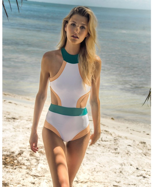 eniqua ICE CREAM ICON BAND SUIT   designer swimsuit on beach