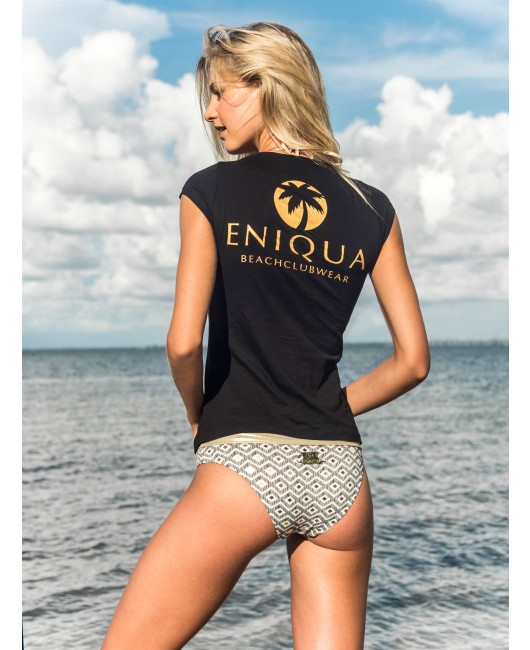 eniqua LOGO TEE BLACK W WOMAN T   t-shirt