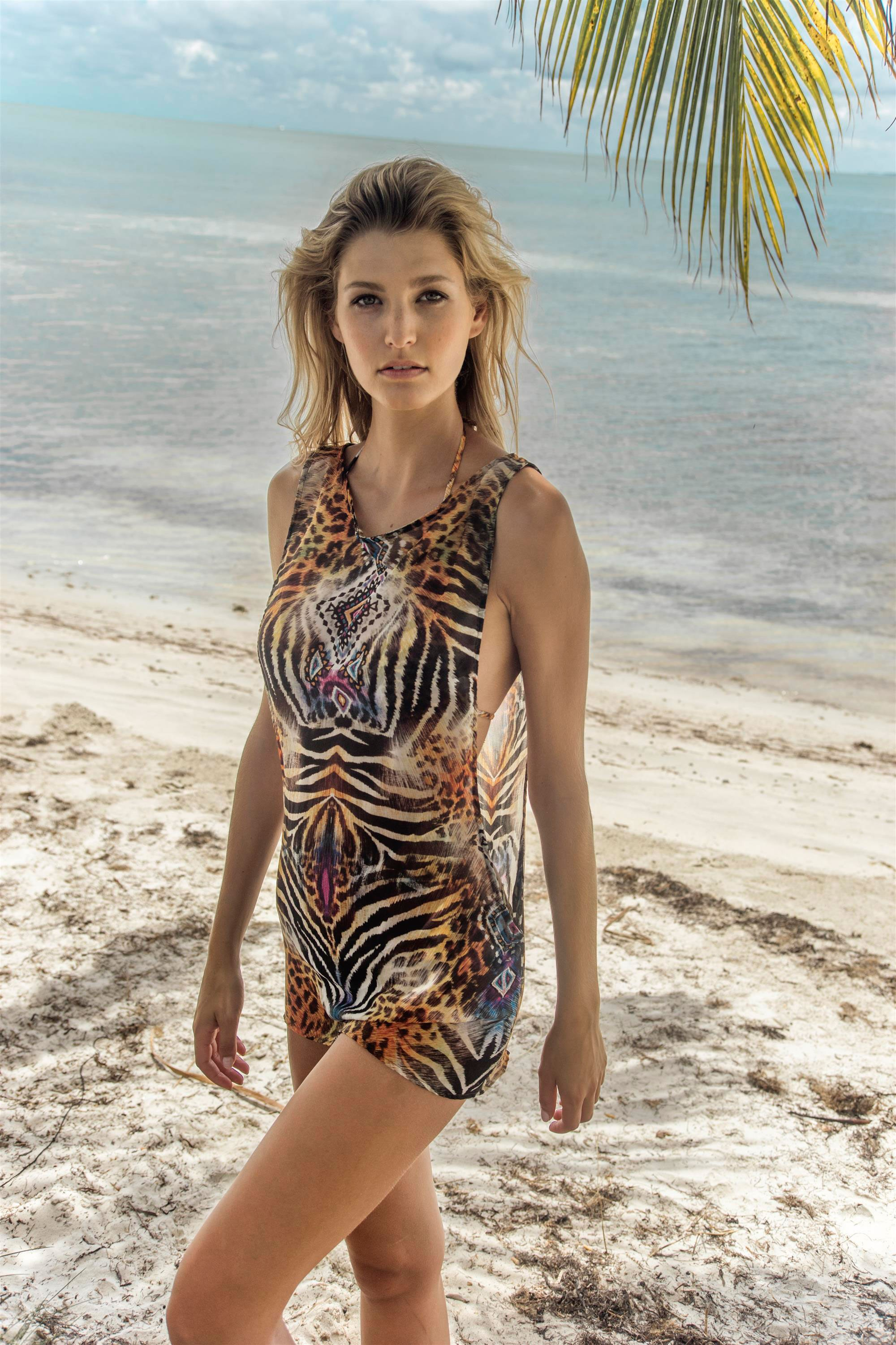 Eniqua Cover Up Beach Dress Wild Ethno