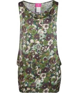 Camo Flowers Beach Dress
