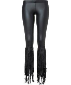 Gypsy Legs Black Fringes Leggings